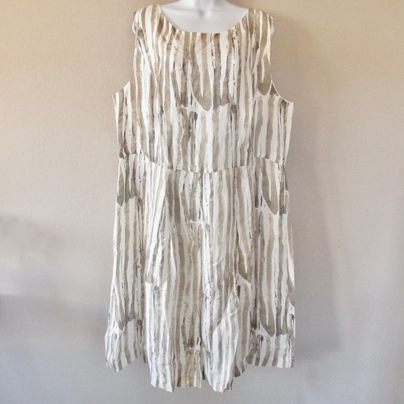 951385bdd2 Lafayette 148 Dress Madison Striped Zoe Linen New